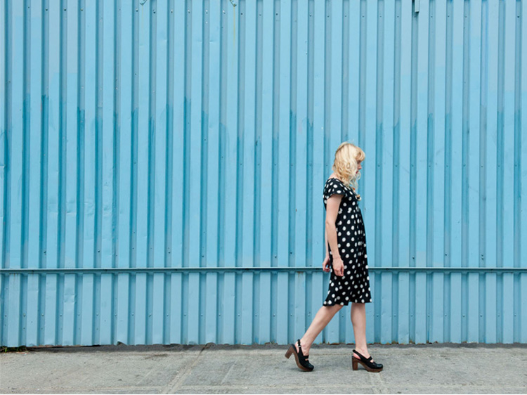Black and White Dotted Ikat Midi Dress