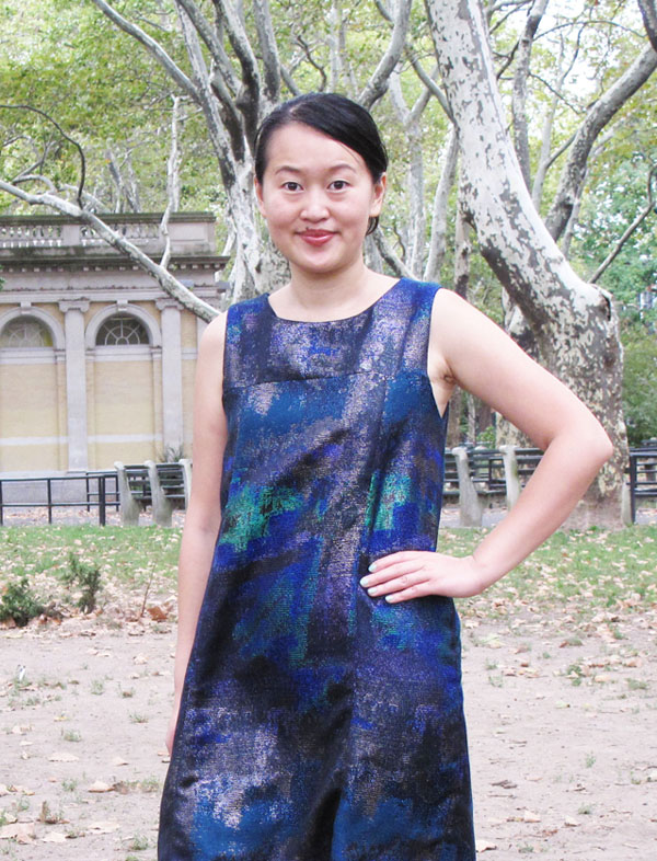 Jamie Lau Designs Metallic A-line Tent Dress