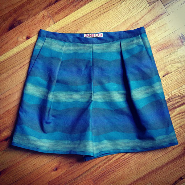 Jamie Lau Designs Blue Gradient Resort Shorts