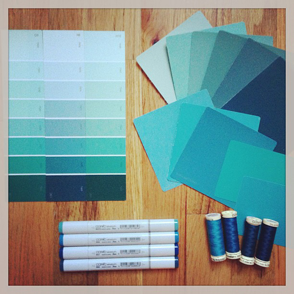 Jamie Lau Designs Color Palette Inspiration Blue-Green