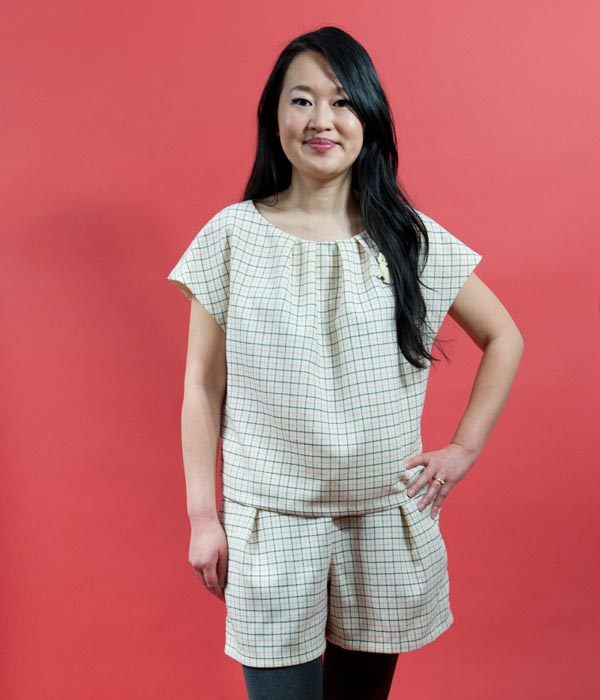Jamie Lau Designs Windowpane Pleated Duo 1