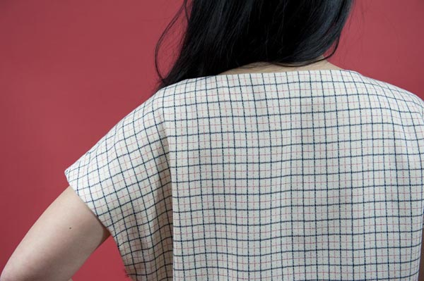 Jamie Lau Designs Windowpane Pleated Top 2