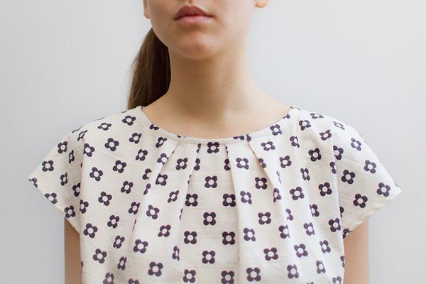 Jamie Lau Designs Aubergine Floral Kimono Sleeve Top