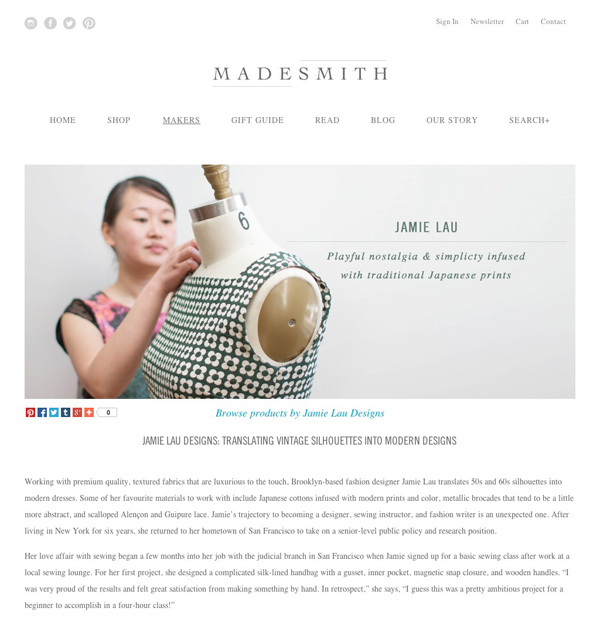 Check out my interview on Madesmith