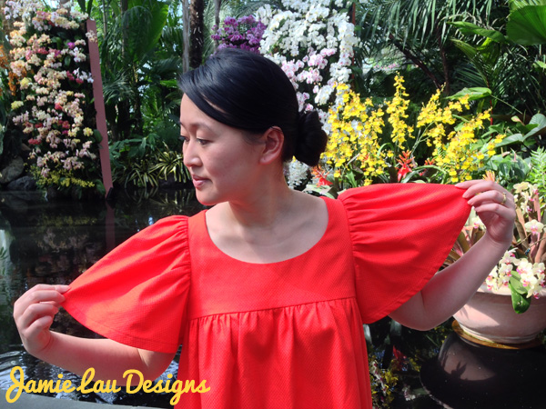 Jamie Lau Designs Vermilion Gathered Top 1