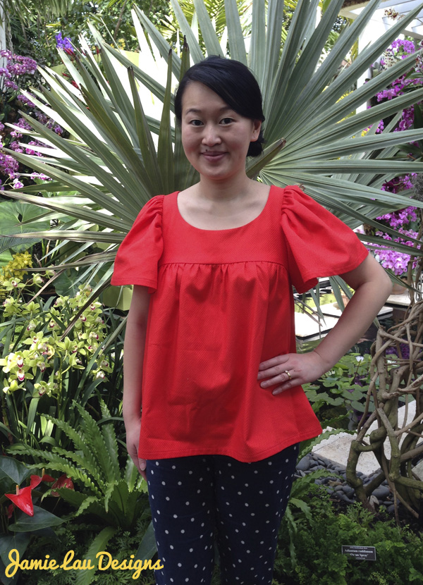 Jamie Lau Designs Vermilion Gathered Top 2