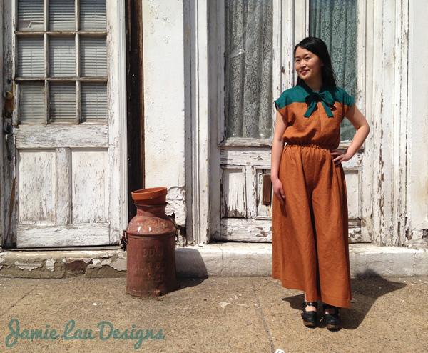 Jamie Lau Designs Linen Palazzo Pant Jumpsuit 1
