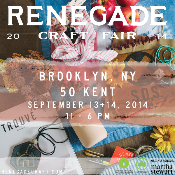 Renegade Craft Fair 2014 Brooklyn September Market