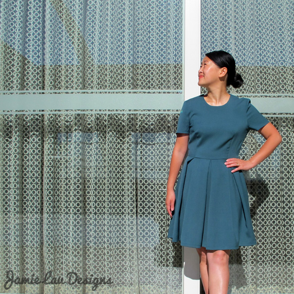 Jamie Lau Designs Pleated Wool Dress 1