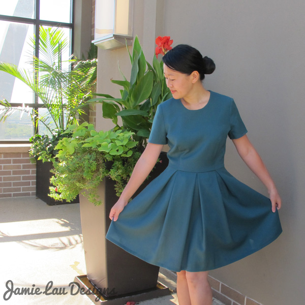 Jamie Lau Designs Pleated Wool Dress 3