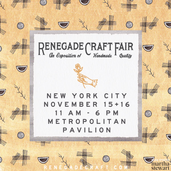 Renegade Craft Fair 2014 New York November Market