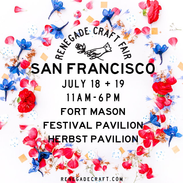 Renegade Craft Fair 2015 San Francisco Market