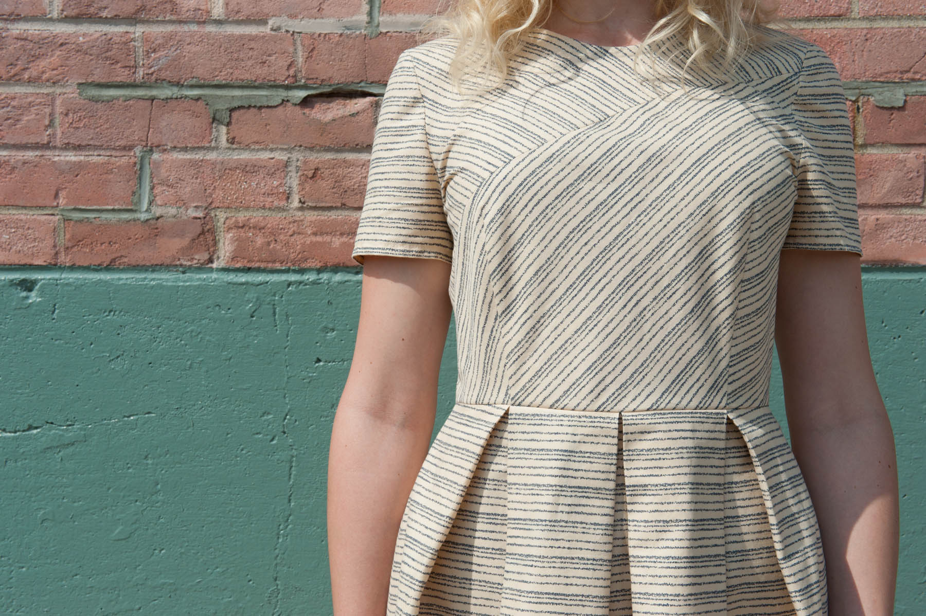 Birch Striped Geometry Dress