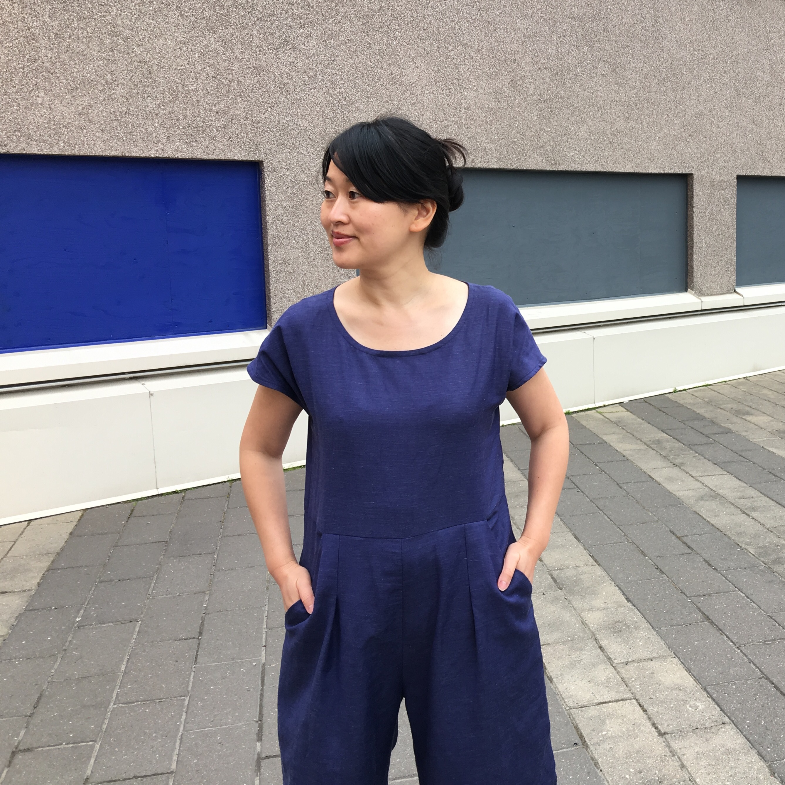 Ultramarine Blue Motion Jumpsuit 2