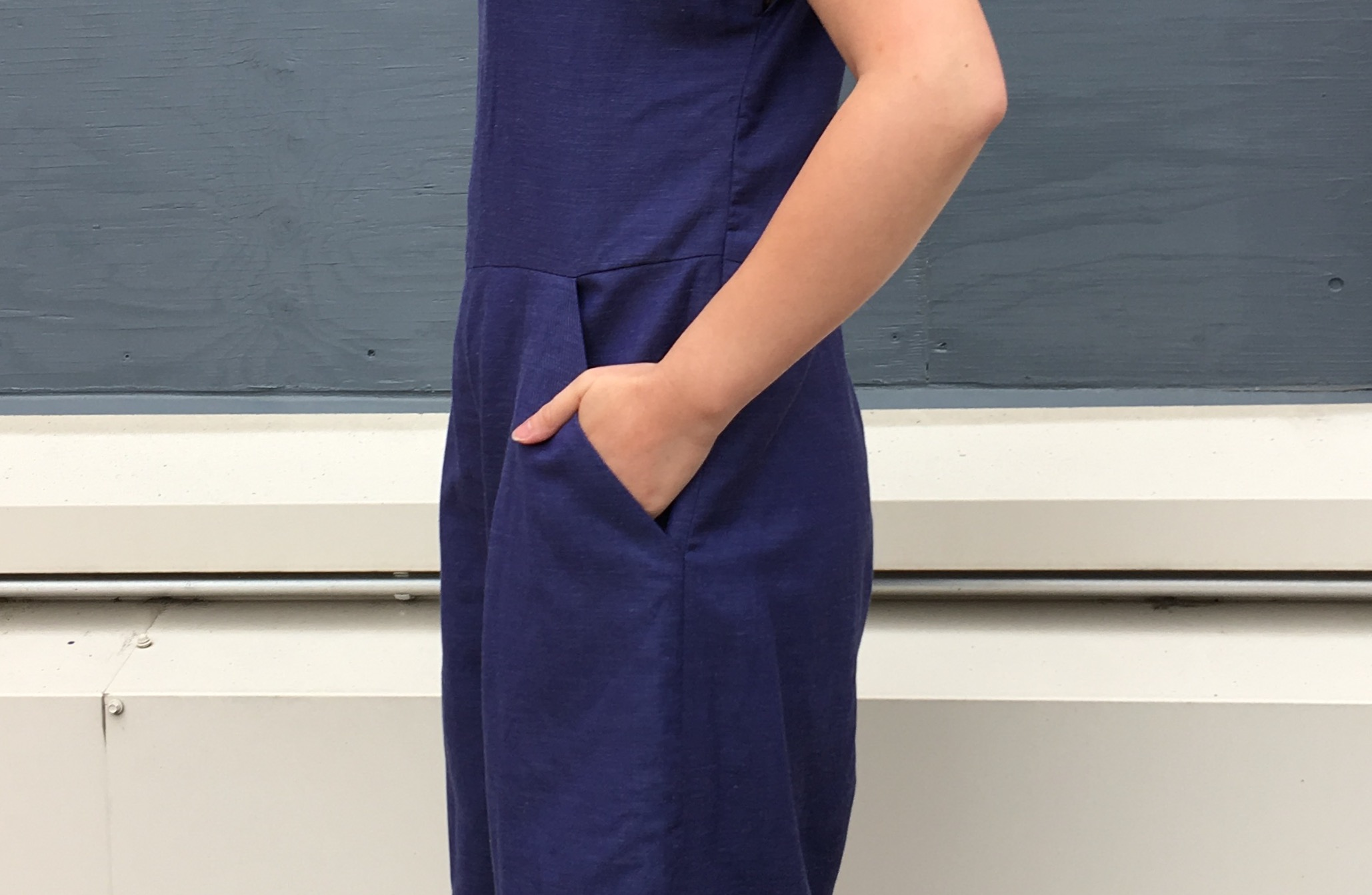 Ultramarine Blue Motion Jumpsuit 3