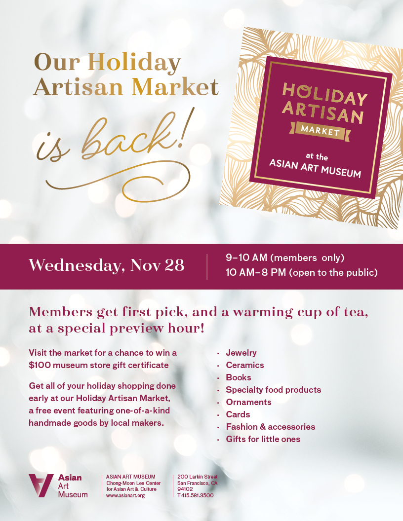 Asian Art Museum Holiday Artisan Market 2018